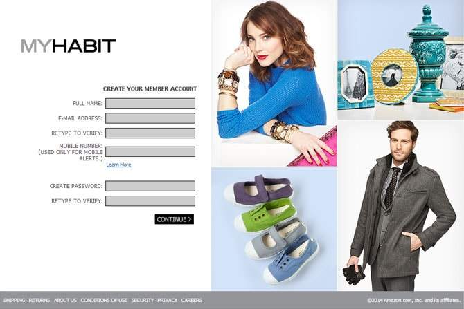 private shopping club myhabit.com