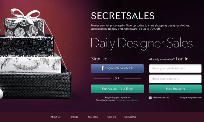 private shopping club SecretSales.com
